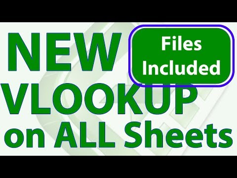 NEW VLOOKUP to Search All Worksheets Simultaneously in Excel