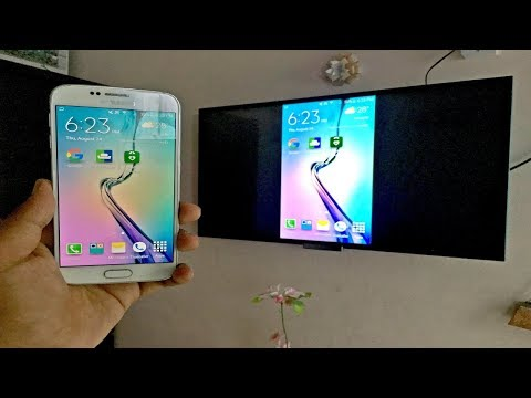 How To Mirror Phone To TV Samsung Galaxy s6(No Wifi, Cable or Chrome Cast Needed)