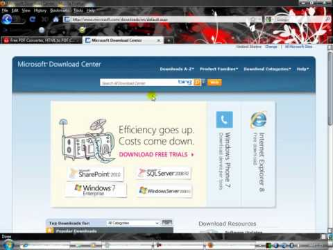 How To Convart HTML Web Page to PDF for Free.flv
