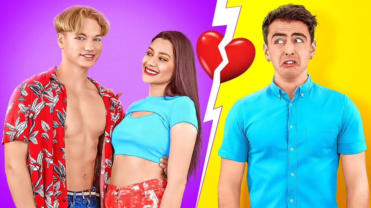 BOYFRIEND VS EX BOYFRIEND! Good VS Bad Student! Funny and Awkward Situations by 123 GO! CHALLENGE