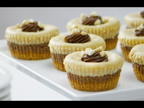 Peanut Butter Chocolate Mini Cheesecakes