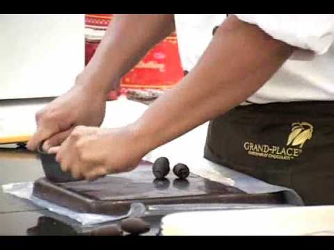 scraping chocolate with Chocoshave