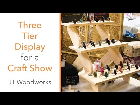 DIY THREE TIER DISPLAY for a CRAFT SHOW!