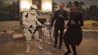 May the 4th: the President, First Lady & R2-D2