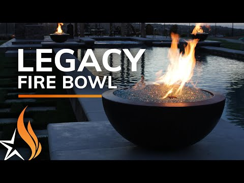 The Legacy Fire Bowl with Fire Glass