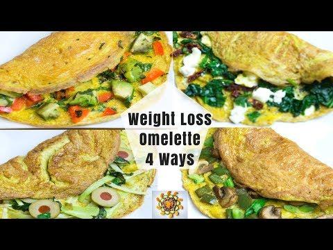 Weight Loss Omelette 4 Ways | Healthy Egg Omelette 4 Ways | Loaded Veggie Omelette