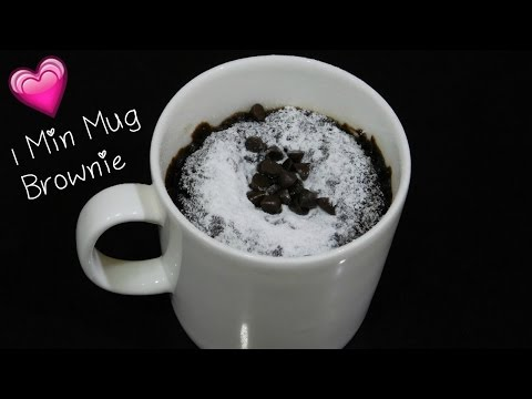 1 Minute Mug Brownie in Microwave ✨ Eggless Mug Brownie Recipe, Mug Brownie in Microwave