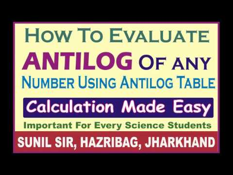How to find Antilog of any number by using log table, Easy Method