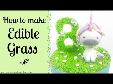 How To Make Edible Grass For Cakes