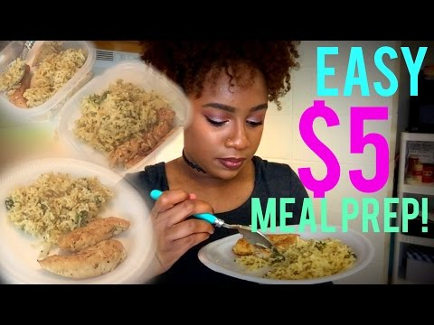 EASY  $5 COLLEGE  MEAL PREP!! | Pan Seared Chicken Tenders with Cheddar Broccoli Rice