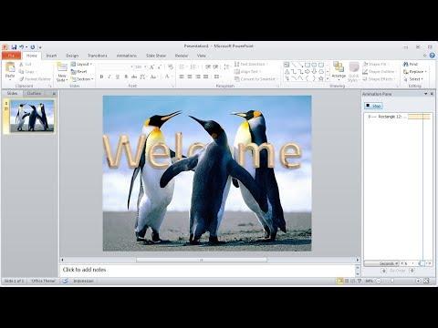 Tutorial powerpoint | Cara Membuat Animasi teks 3D di Belakang Objek Gambar di Powerpoint