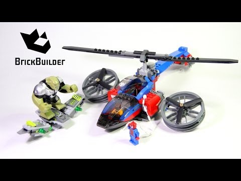 Lego Super Heroes 76016 Spider-Helicopter Rescue - Lego Speed Build