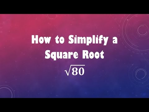 How to Simplify a Square Root: sqrt(80)