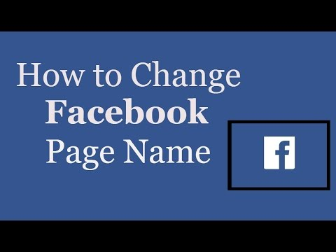 How to change facebook page name in 2 minutes. Whats Trending Now