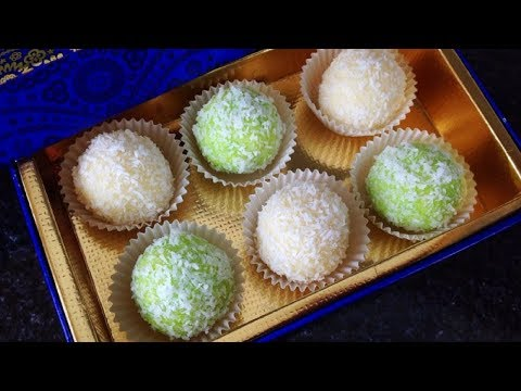 Coconut Mithai In 5 Minutes - 4 Ingredients only - Dessert Recipe by (HUMA IN THE KITCHEN)