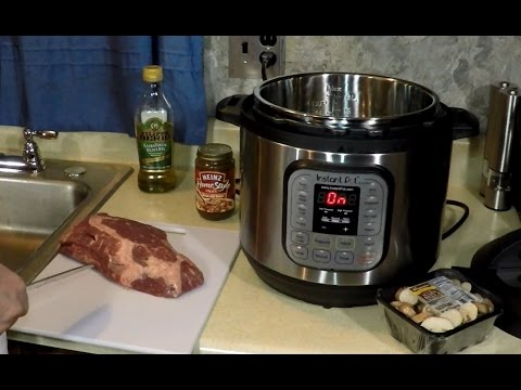 Pressure Cooker Swiss Steak + Mushrooms Instant Pot