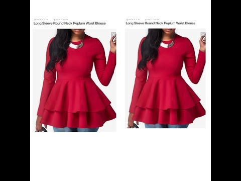 How To Make A Double Peplum Blouse