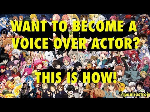 How to become a Voice Over Actor/Artist