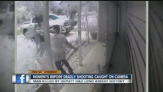 Moments before deadly shooting caught on camera