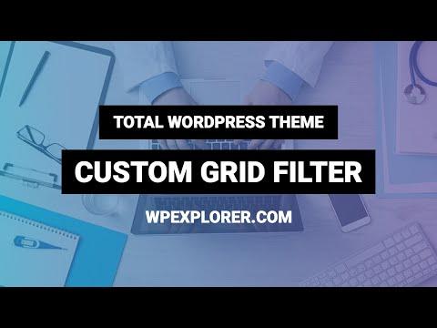 Total WordPress Theme Navigation Bar Custom Grid Filter