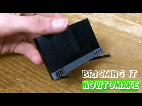 How To Make LEGO Big Screen TV with stands (MOC, Basic)