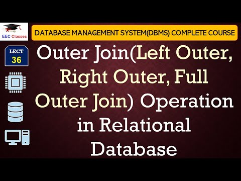 Outer Join(Left Outer, Right Outer, Full Outer Join) in DBMS with Example in English, Hindi