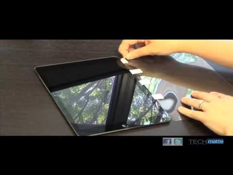 amFilm Tablet Rubber Band Hinge Method of Screen Protector Installation
