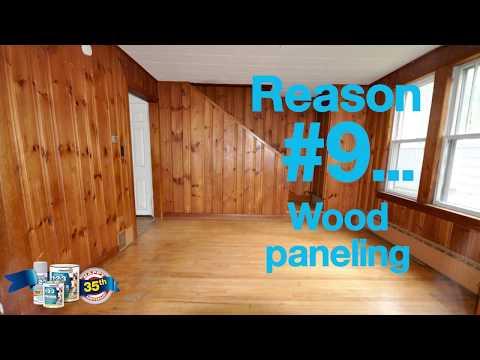 35 Reasons to Prime. Reason #9... Wood paneling