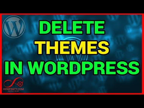 How to delete and uninstall a wordpress theme