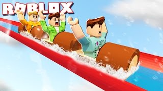 Roblox Adventures - REALISTIC LOG WATER RIDE IN ROBLOX! (Log Ride World 2.0)