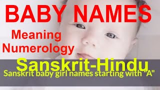 Indian Hindu Baby Names - Girl names starting with U