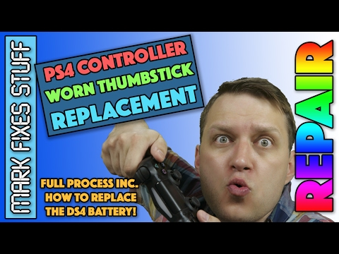 Replace worn down Thumb Sticks on PS4,  Repair, Rubber, Battery & Clean the Dual Shock 4 Controller