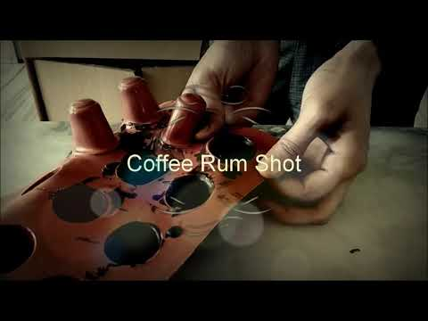 Coffee rum shot