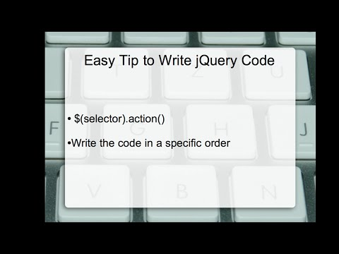 jQuery Tip: Simple and Effective Tip (Technique) to Write jQuery Code Easily