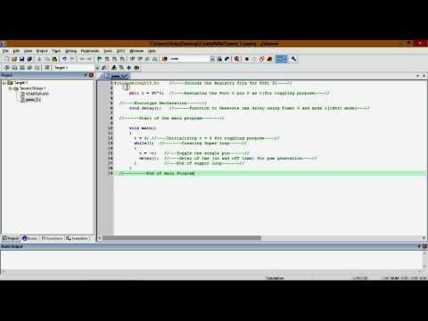 Generating PWM (Pulse Width Modulation) i.e. Square wave using Miro-controller 8051