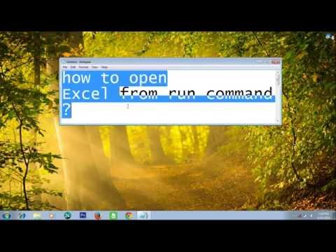 How to open excel using run command