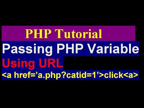 Passing a GET or URL variable through a link with PHP - php tutorial