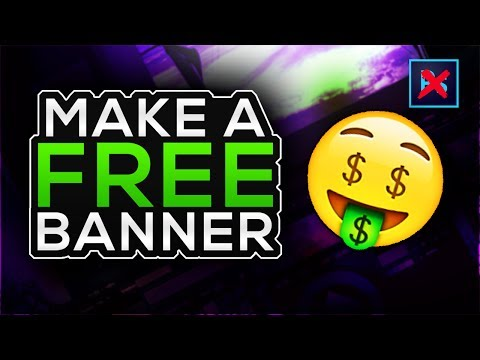 How To Make A FREE YouTube Banner Without Photoshop! 2017 Pixlr Tutorial