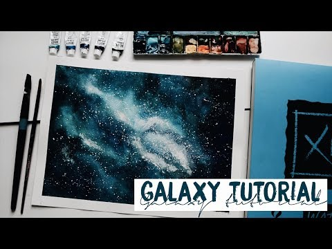 How To Paint A Watercolor Galaxy | Tutorial