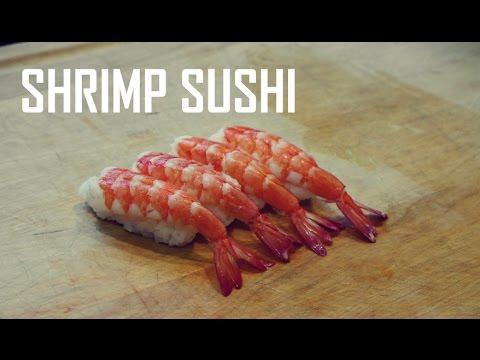 How to Make Ebi Nigiri Sushi with Shrimp (BEST Video)