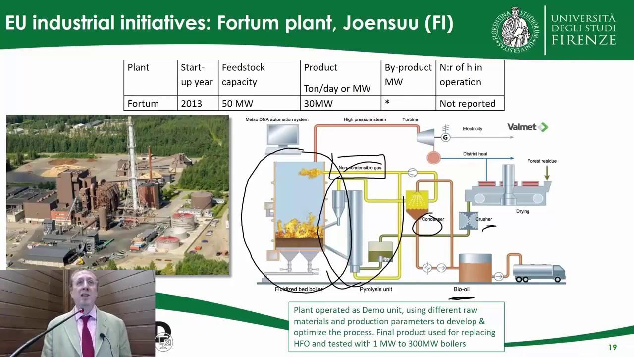 Advanced Biofuels, Pyrolysis & Hydrothermal Processing - Prof. David Chiaramonti