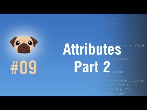 Learn Pugjs in Arabic #09 - Attributes Part 2