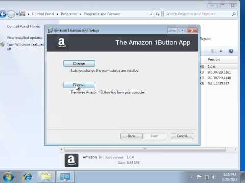 How to Remove Amazon 1Button App