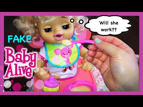 FAKE Baby Alive Doll Test to See if She Works Feeding and Changing!