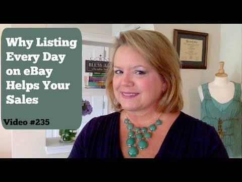 SEO eBay Search Engine Optimization Advice - Listing Every Day Increases Sales