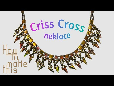 How to make Criss Cross Necklace | Spike Beads DIY