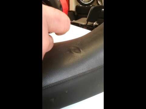 How to fix indentation in leather seats easy