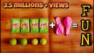 ENO Experiment With Baloon  | Science experiment with Eno