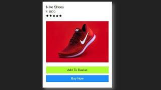 How to create Shopping Product Card using HTML and CSS