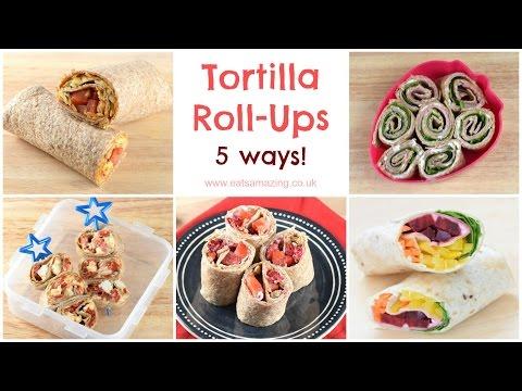 Tortilla Roll-Up Recipes - 5 Ways!